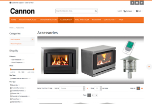 An Elegant Magento store for Cannon