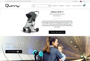 Magento Ecommerce store for Quinny