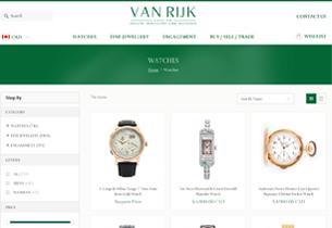 Magento Ecommerce store for Vanrijk